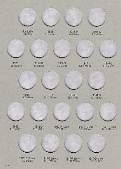 Jefferson Nickels 1938-1961 HE Harris Coin Folder 6x7.75 - 25016