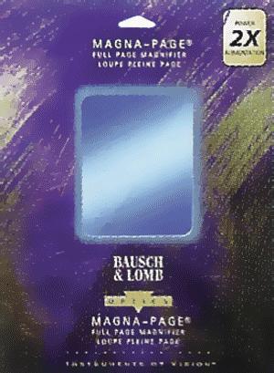 2x Magna-Page Magnifier 2x Magna-Page Magnifier Bausch & Lomb 819007, Bausch & Lomb, 89007