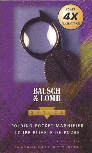 4x Folding Pocket Magnifier Bausch & Lomb 812354 4x 4x Folding Pocket Magnifier Bausch & Lomb 812354, Bausch & Lomb, 812354