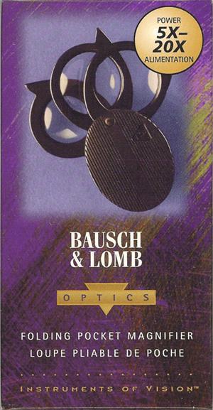 5x 20x Folding Pocket Magnifier Bausch & Lomb 812367 5x to 20x 5x 20x Folding Pocket Magnifier Bausch & Lomb 812367, Bausch & Lomb, 812367