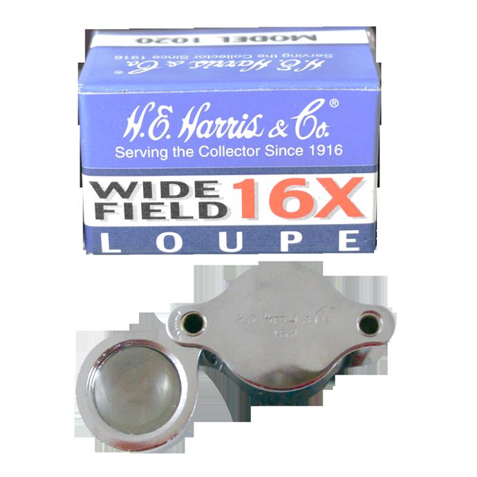 H.E. Harris Pocket Magnifier Loupe 16x