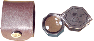 15x Triplet Hexagonal Loupe 20.5 mm dia 15x Triplet Hexagonal Loupe, CS Express, ELP-758.00
