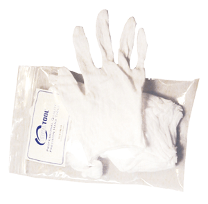 White Cotton Glove - Small small cotton gloves, coin handling, coin supply express