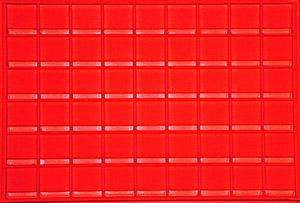 Mini Flip Horizontal Display Tray Red Tray - Horizontal Mini Flip Horizontal Display Tray Red, Guardhouse,