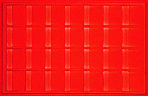2x2 Flip Vertical Display Tray Red Tray - Vertical 2x2 Flip Vertical Display Tray Red, Guardhouse,