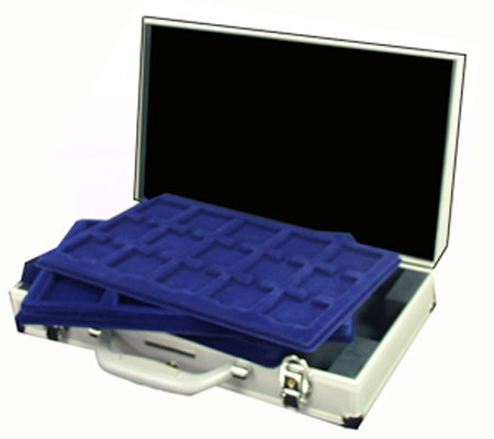 6 Tray Aluminum Coin Attache Case KO 3 LEER 16.25x9.5x3.25 6 Tray Aluminum Coin Attache Case KO 3 LEER, Lighthouse, KO 3 LEER