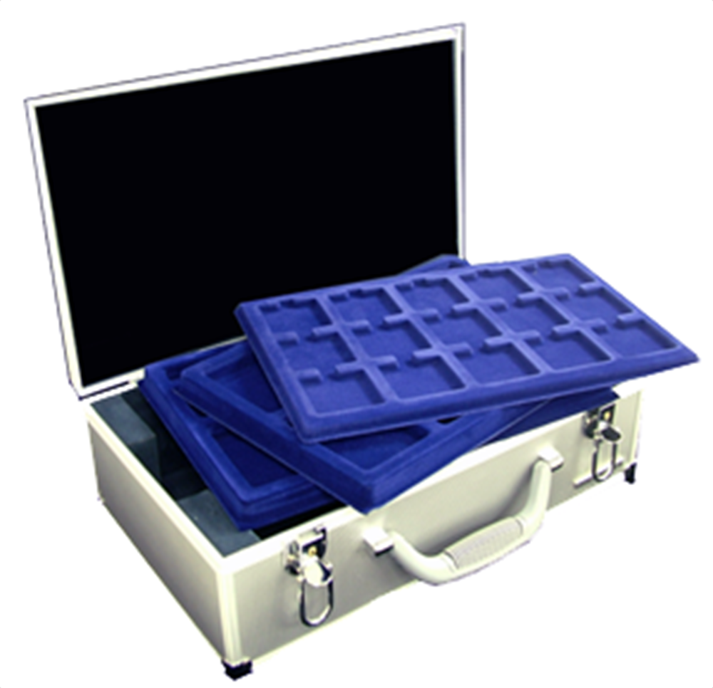 12 Tray Aluminum Coin Attache Case KO 6 LEER 16x9 3/8x5 12 Tray Aluminum Coin Attache Case KO 6 LEER, Lighthouse, KO 6  LEER