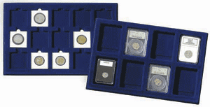 Lighthouse 2x2 Coin Presentation Tray w/ Individual Cells 2x2 Coin Tray w/ Individual Cells, Lighthouse, TAB15BL