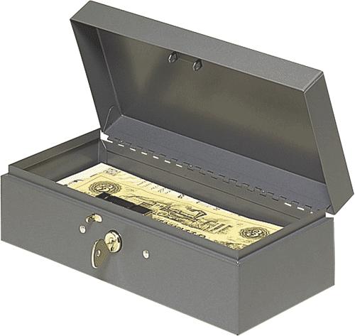 Steel Paper Money Box 10.25x4.75x2.875 Steel Paper Money Box, MMF, 2212CBGY