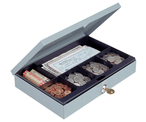 Cash Box with Security Lock 11.25x7.5x2 Cash Box with Security Lock, MMF, 221618001
