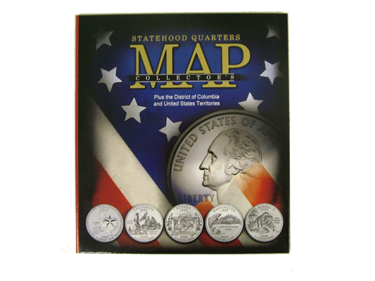Statehood Quarter Maps