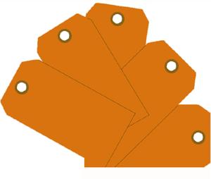 """Plain ID Tags 2-3/8"""" x 4 3/4"""" Plain ID Tags, MMF, 210071716"""