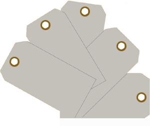 """Plain ID Tags 2-3/8"""" x 4 3/4"""" Plain ID Tags, MMF, 210071701"""