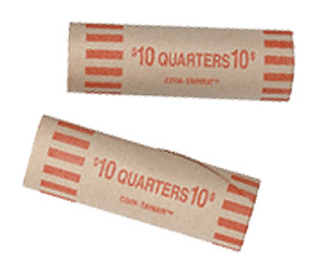 Preformed Tube Coin Wrappers Quarters
