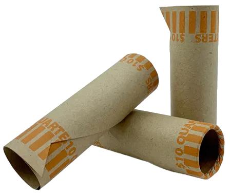 Preformed Quarter Coin Wrappers - 1000 PK