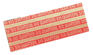 Flat Quarters Coin Wrappers Quarters Flat Quarters Coin Wrappers, MMF, 216020016