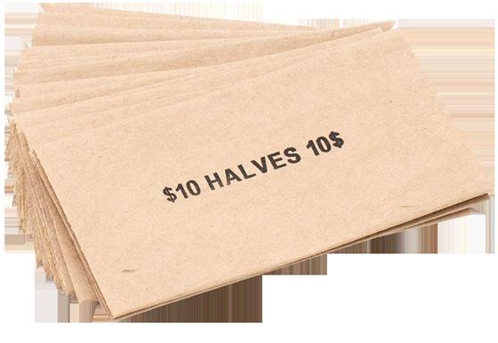 Flat Half Dollar Coin Wrappers Half Dollar Flat Half Dollar Coin Wrappers, MMF, 216020003