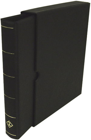 Vario-F, 3 O-Ring Binder and Slip Case - Black - 34784