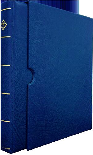 Vario-F, 3 O-Ring Binder and Slip Case - Blue - 34792