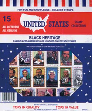 Black Heritage US -- 15 Stamps Black Heritage US -- 15 Stamps, HE Harris & Co, 9TRT3171