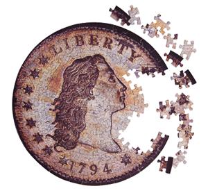 Coin Puzzle Contursi Dollar 250 mm