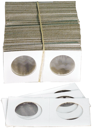Mini Nickel/Quarter Paper 1.5 x 1.5 Coin Holders Cowens Quarter/nickel Mini Nickel/Quarter Paper 1.5 x 1.5 Coin Holders Cowens, Cowens, 2523