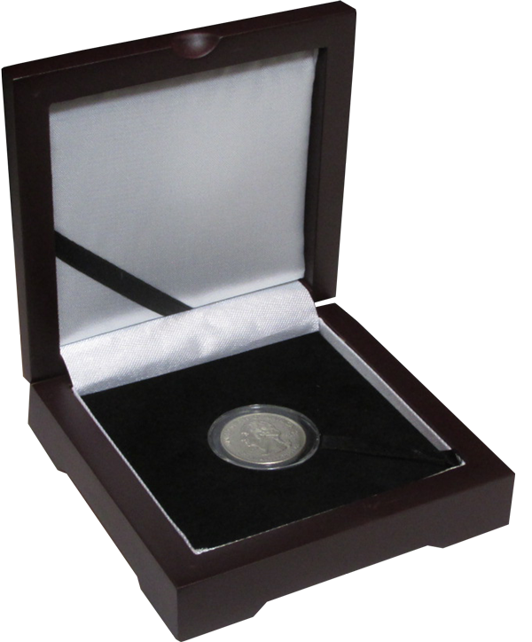 Guardhouse Single Coin Solid Top Box - Holds Small Capsule - 3.87x3.87x1.25