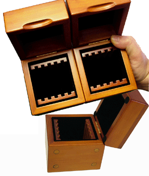 GuardHouse Wood Slab Box - Holds 5 Certified Coins GuardHouse Wood Coin Display Box - 5 Slab, Guardhouse, GH-SLAB-W5