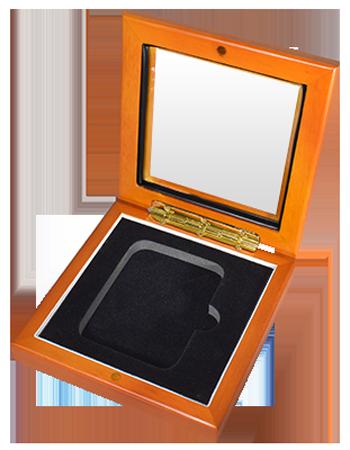 Guardhouse Glass Top Display Box for 1 Slab - Light Cedar
