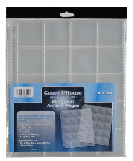 Guardhouse 20 Pocket Archival Notebook Pages - 10 Pack