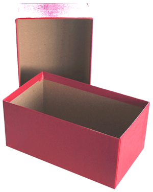Chipboard Box for Modern Currency - Red