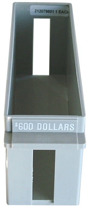 Small Dollar Large Quantity Rolled Coin Tray Plastic Gray Sm Dollar Small Dollar Large Quantity Rolled Coin Tray Plastic Gray, MMF, 212079801
