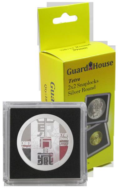 Silver Round Tetra 2x2 Snaplock Coin Holders (10 Pack) 2x2, Silver Round, Tetra, - 10 per pack, 13964031102