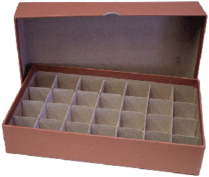Guardhouse Half Dollar Tube Storage Box - Brown