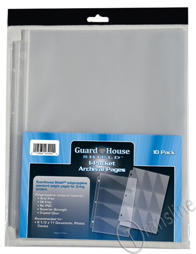 Guardhouse Single Pocket Archival Binder Page 10-pack