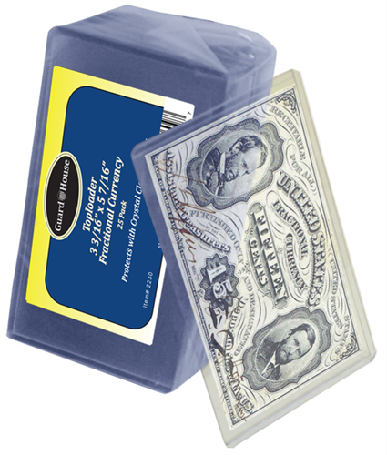 Guardhouse Fractional Currency Top Loader - 25 PK