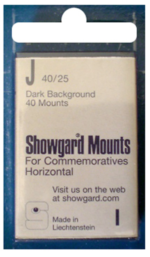 Showgard Stamp Mounts 40x25mm Black