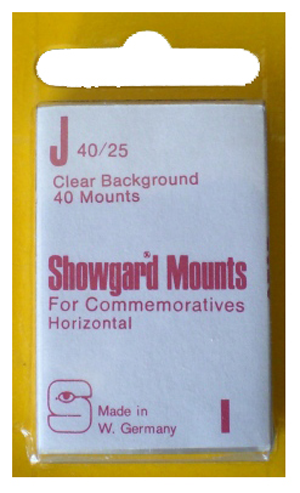 Showgard Stamp Mounts 40x25mm Clear