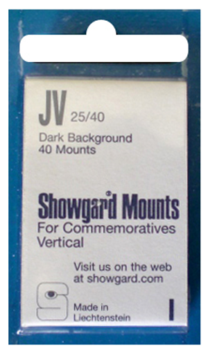 Showgard Stamp Mounts 25x40mm Black