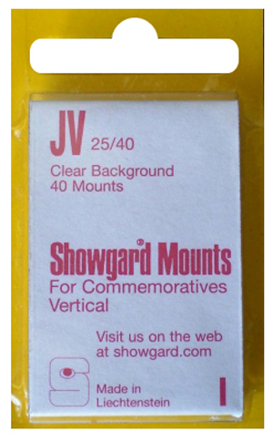 Showgard Stamp Mounts 25x40mm Clear