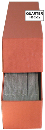 Quarter 2x2 Paper Coin Holders w/ Guardhouse Box Quarter