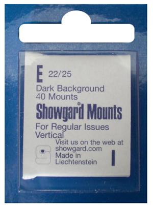 Showgard Stamp Mounts 22x25mm Black