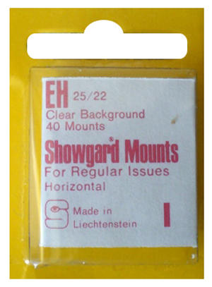 Showgard Stamp Mounts 25x22mm Clear