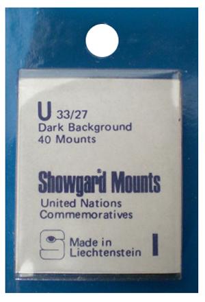 Showgard Stamp Mounts 33x27mm Black