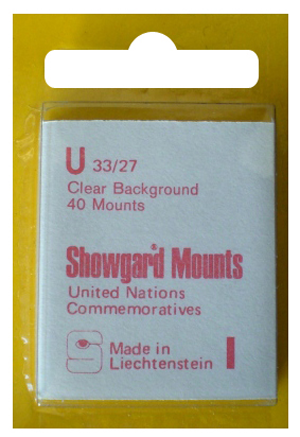 Showgard Stamp Mounts 33x27mm Clear