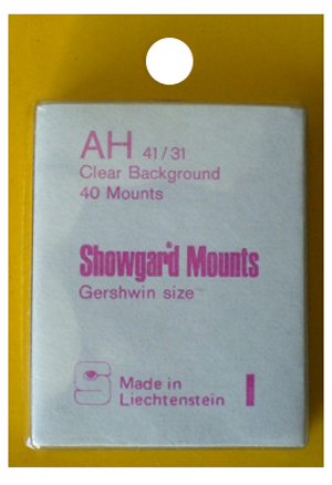 Showgard Stamp Mounts 41x31mm Clear