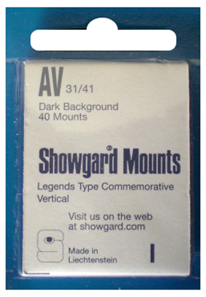 Showgard Stamp Mounts 31x41mm Black