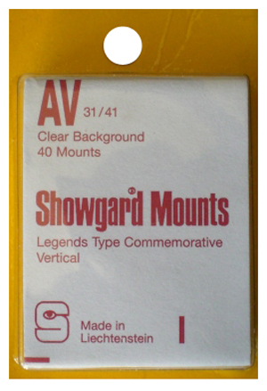 Showgard Stamp Mounts 31x41mm Clear