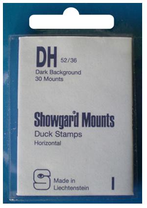 Showgard Stamp Mounts 52x36mm Black