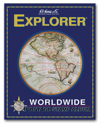 Explorer Stamp Album by HE Harris